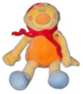 Petit doudou Lutin orange jaune bleu Nattou 18 cm Billy et Babette Aubert