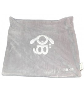 OBAIBI OKAIDI Grand doudou plat gris carré 35 cm