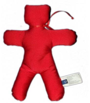 OBAIBI OKAIDI Doudou tissu Bonhomme rouge 25 cm