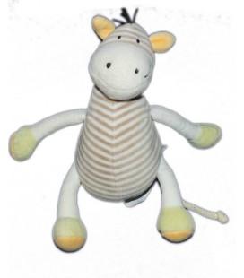 OBAIBI OKAIDI Doudou cheval rayures 20 cm