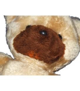 Boulgom Ours beige marron 38 cm Ancien ours en peluche Vintage