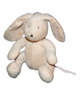 Doudou peluche Lapin beige DPAM Du Pareil au Même 22 cm