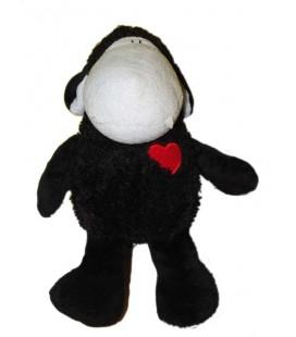 Doudou peluche Mouton noir Coeur rouge Sheepworld 32 cm
