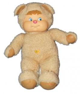 Vintage - Peluche Cabbage Patch Kid Poupon déguisé en ours beige 36 cm