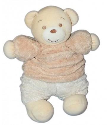 Doudou peluche Ours beige blanc Kaloo 32 cm