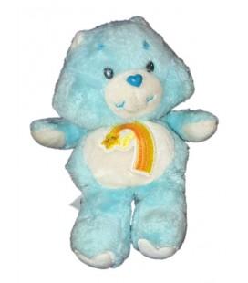 Vintage Peluche Bisounours bleu Etoile filante Arc en Ciel Care Bears 32 cm