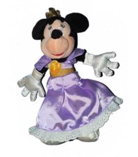 Peluche doudou MINNIE déguisée en reIne Robe mauve 26 cm Disney Disneyland Resort