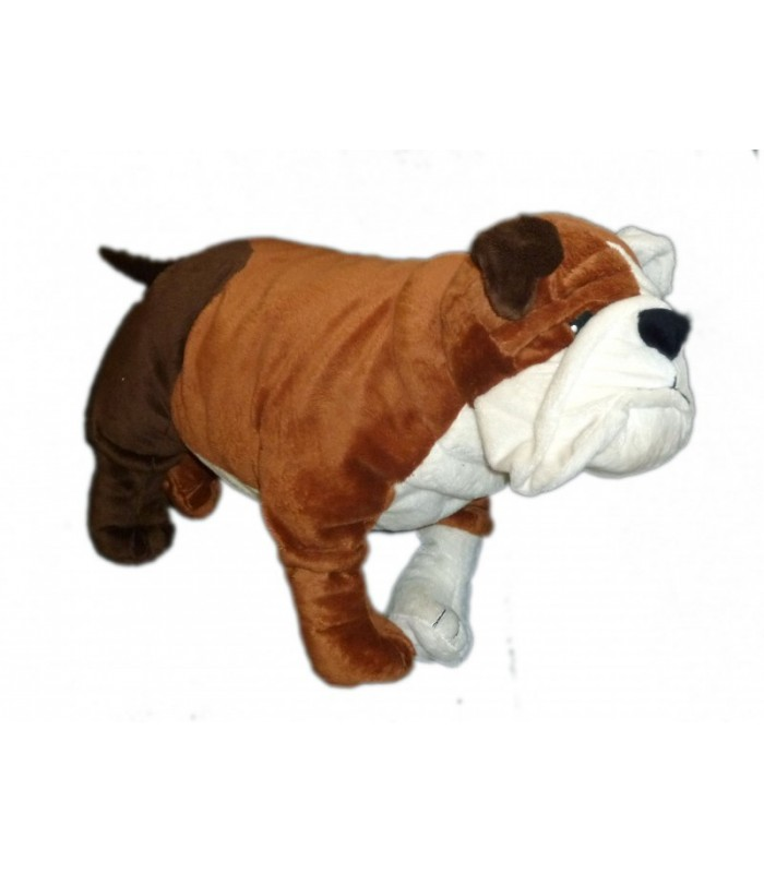 ikea doudou peluche chien gosig bulldog marron blanc brun l 55 cm 21 3 4. Black Bedroom Furniture Sets. Home Design Ideas