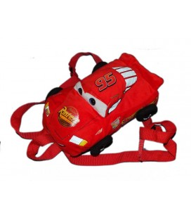 Petit Sac à dos enfant Peluche Cars Disney Flash McQueen 28 cm