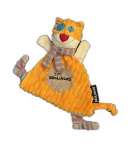 Les Déglingos Doudou le Chat baby Ronronos en Tissu Hauteur 27 cm
