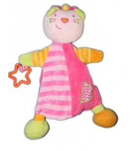 Doudou marionnette Chat rose Babysun Etoile
