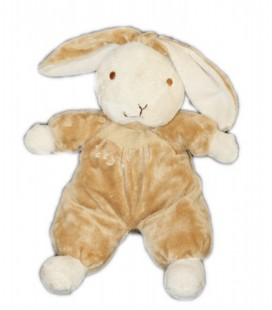 Doudou peluche lapin marron blanc CP INTERNATIONAL Baby 32 cm
