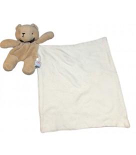Doudou Ours beige Mouchoir blanc Sucre d'orge