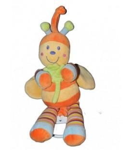 Doudou Peluche musicale abeille Papillon jaune orange Mots d Enfants 30 cm Trefle