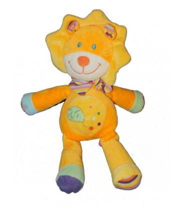 Doudou Lion Orange Jaune Pommette 18111 Intermarché Feuille Verte