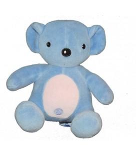 Doudou Panda bleu POMMETTE assis 16 cm
