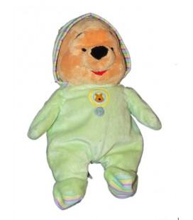 Doudou Disney Peluche Winnie Pyjama Vert 30 cm 587/1598