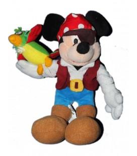 Peluche doudou MICKEY Pirate Perroquet Disney Disneyland Resort Paris 26 cm