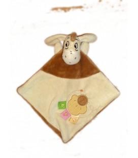 Doudou plat BOURRIQUET - Disney Baby - Beige marron 3 étiquettes - Soleil nuage brodés