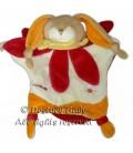 DOUDOU ET COMPAGNIE Marionnette LAPIN orange fushia Maman Fleur
