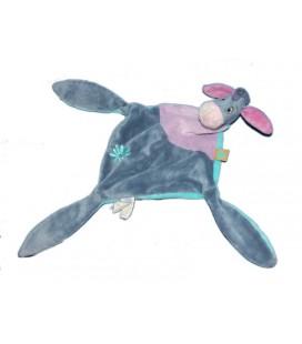 Doudou Bourriquet plat Disney Baby 3 nœuds Bleu violet fleur 587/8089
