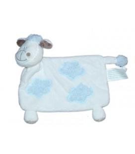 Doudou plat Mouton blanc nuages bleus Kimbaloo