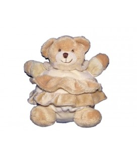 Babynat Doudou Ours boule beige colertte Baby Nat 18 cm