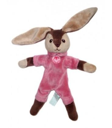 aNIMa - Doudou lapin marron rose - 23 cm + 12 cm oreilles - animadou
