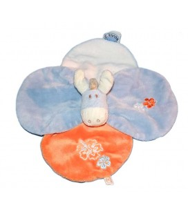 noukies-doudou-plat-ane-bleu-paco-fleurs-petales-bleu-orange-blanc