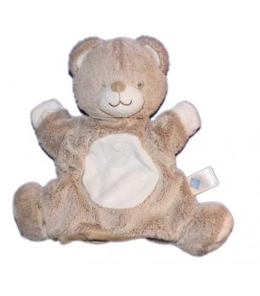 doudou ours marron chiné blanc tex