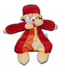 Doudou peluche Clown jaune rouge Sucre d'Orge 28 cm