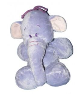 Doudou peluche Floppy LUMPY L'Efelant Elephant mauve Disney Nicotoy 26/35 cm