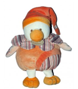 DOUDOU ET COMPAGNIE - CANARD Oieau Banjo orange 22 cm