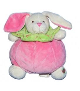 doudou-lapin-framboise-rose-vert-baby-nat-16-cm