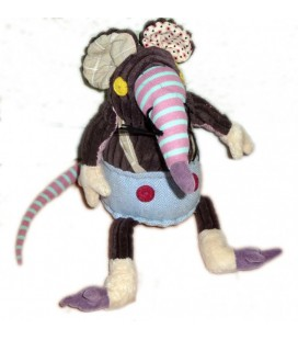 Doudou peluche Souris Ratos Le RAT - DEGLINGOS - 35 cm