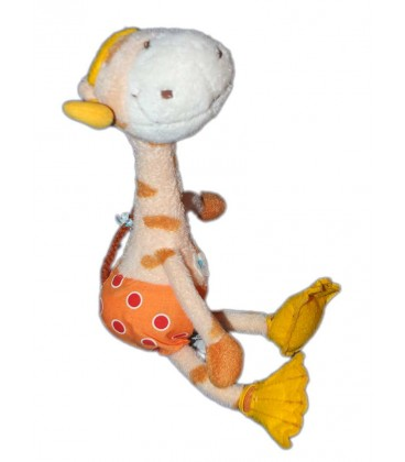 Doudou Girafe plongée Carréblanc 28 cm
