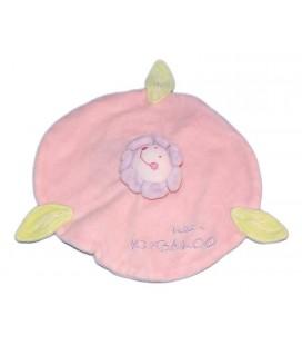 doudou-plat-fleur-rose-petit-kimbaloo-la-halle-feuilles-vertes