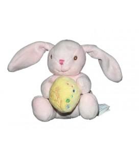 doudou-lapin-rose-oeuf-coussin-jaune-kimbaloo-la-halle-15-cm
