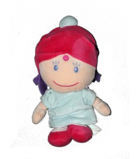 doudou-indou-fille-indienne-robe-bleue-rose-kimbaloo-la-halle-25-cm