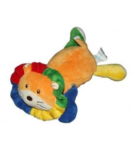 Doudou Peluche Lion orange KIMBALOO La Halle ! 25 cm