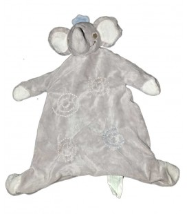 Doudou Plat Elephant gris KIMBALOO La Halle Spirales