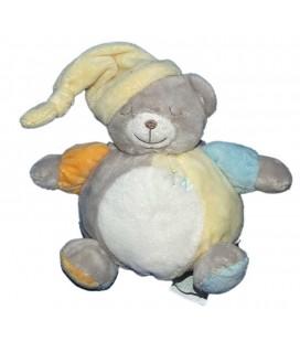 doudou-peluche-ours-gris-bonnet-jaune-blanc-bleu-boule-kimbaloo-la-halle-16-cm