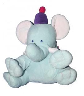 Doudou Peluche Elephant bleu KIMBALOO La Halle 20 cm