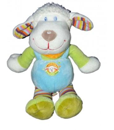 doudou-mouton-bleu-vert-foulard-orange-nicotoy-5798241-22-cm