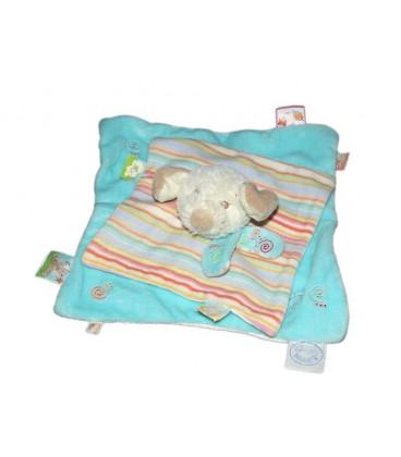 Noukie's Kishoo Tidou - Doudou plat chien bleu turquoise