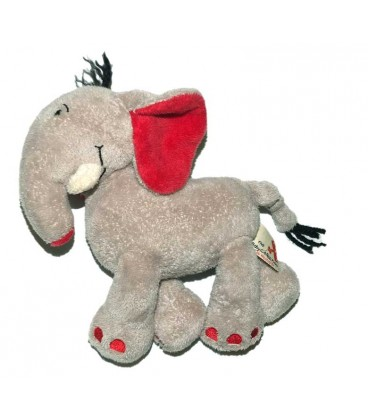 doudou-elephant-gris-rouge-the-baby-collection-nicotoy-18-cm