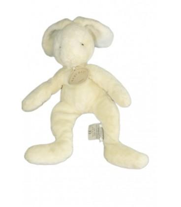 Doudou LaPIN blanc crème écru ivoire - BaBY NaT Babynat 25 cm