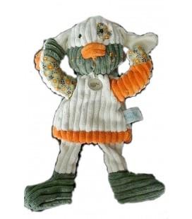 doudou-marionnette-chien-lapin-beige-creme-orange-vert-baby-nat-patchwork-bn683
