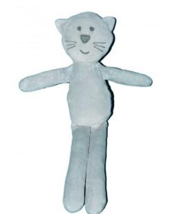 Doudou Chat bleu gris Bout'chou Monoprix