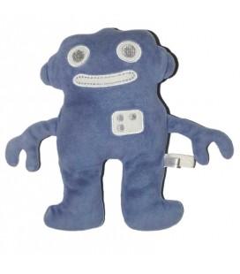 Doudou Robot bleu Bout'chou Monoprix 22 cm